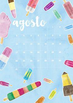 milowcostblog: calendario agosto: imprimible y fondo