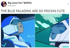 Where Allura at tho? She cute too and she's the current blue paladin
