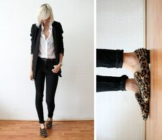 It's all about the shoes | spice up the office attire with spiked-leopard print loafers