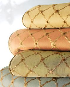 """""""Tuscan Trellis"""" Bed Linens by Dian Austin Couture Home at Horchow.  Gorgeous, but holy cow, the price!"""