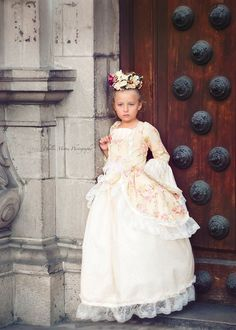"""Edwardian Rose""... A Floral Victorian Inspired Girls Ball Gown //// this is how all the girls go to a ball, isn't it?"