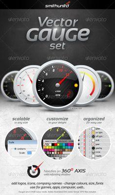 GraphicRiver Vector Gauge 3160715