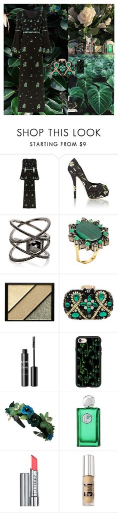 """In The Land Of Green Ghosts☘"" by oksana-kolesnyk ❤ liked on Polyvore featuring Andrew Gn, Dolce&Gabbana, Eva Fehren, Artisan, Elizabeth Arden, NYX, Casetify, La Parfumerie Moderne, By Terry and Bare Escentuals"