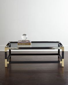 """$2099 54""""W x 34""""D x 18""""T. Blaise Coffee Table at Horchow."""