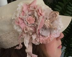 Romantic Rose Pink Mint Green/ Satin & Lace/ by DolledandDazzled