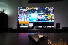 """NVIDIA claims to have found the real way to """"play TV"""" with the Shield Android TV console. Is this smart TV box really all it's put out to be? Xbmc Kodi, Large Tv, Android, Tech, Hands, Play, Box, Image, Snare Drum"""
