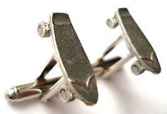 Skateboard Cufflinks - Gifts For Men - Anniversary Gift - Handmade - Gift Box…