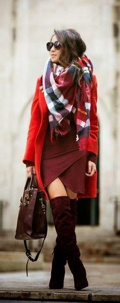Red Crimson Coat