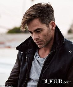 Hollywood hunk! Chris Pine, 35, was featured in a smouldering digital cover story for DuJour's February issue