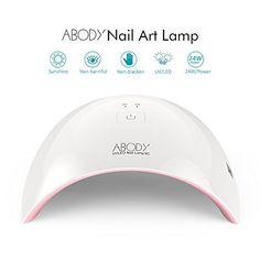 Abody SUN9C 24W Lampe UV LED Sèche-ongles Portable Séchoirs à Ongles Lumière Blanche Lampe à Polymériser Nail Art: N'a aucun mal à ongles…