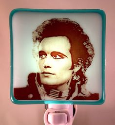 A personal favorite from my Etsy shop https://www.etsy.com/listing/467678284/adam-ant-night-light-fused-glass