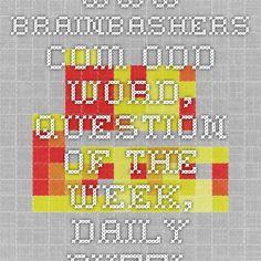 30791107985 www.brainbashers.com Odd Word