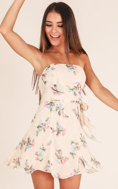 Showpo Go My Own Way dress in beige floral - 6 (XS) Casual Dresses Casual Dresses, Casual Outfits, Fashion Dresses, Summer Dresses, Mini Dresses, Beige Outfit, Long Haired Chihuahua, Lauren, Womens Fashion For Work