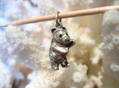 Vintage Sterling Silver PANDA or Winnie Pooh BEAR by charmingellie, $9.99