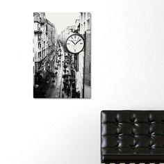 İstiklal Street Canvas Wall Clock / Kanvas Duvar Saati http://www.tictactasarim.com/K15,modern-tablo-saatler.htm