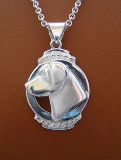 Large Sterling Silver Labrador Retriever Head Study by BestK9buds