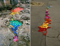 Goldsworthy gone buttons and yarn