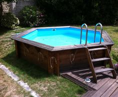 piscine leroy merlin pas cher achat piscine hors sol bois odyssea procopi octogonale. Black Bedroom Furniture Sets. Home Design Ideas