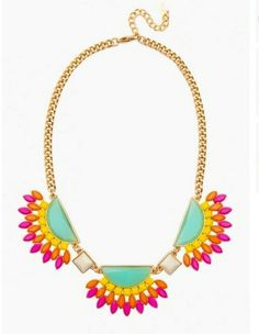 #Statement #neon #necklace to spice up any #outfit ! #love