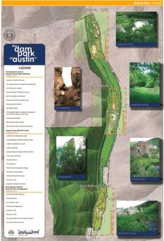 Map 1 of the Master Site Plan for the Dam Park at Austin!
