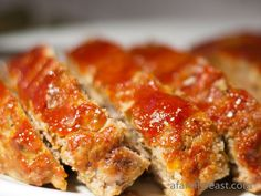 A savory meatloaf with a sweet tomato ketchup crust.