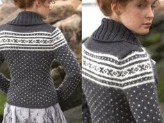 fair isle / norwegian pattern with modern twist (Vogue Knitting fall 2011)