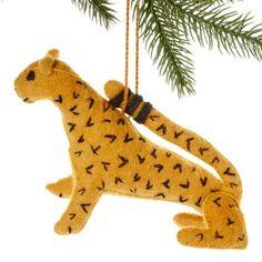 Jaguar Felt Holiday Ornament - Silk Road Bazaar (O)