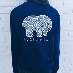 Pocketed True Navy Paisley Print - portion of purchase goes to savetheelephants.org