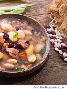 Bohnensuppe mit Kartoffeln Fasolewyj sup s kartofelem - Фасолевый суп с картофелем - Russische Rezepte
