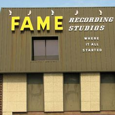FAME Recording Studio...Muscle Shoals, AL  Some of the most famous musicians have recorded here