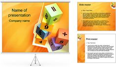 Tijolos com números Modelos de apresentações PowerPoint