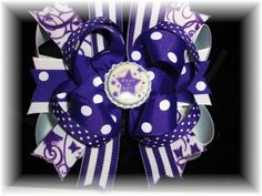 Boutique Relay for Life Hair Bow