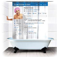 Facebook shower curtain... lol