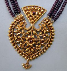 Antique  22 K Gold ruby bead necklace vintage by TRIBALEXPORT, $5500.00