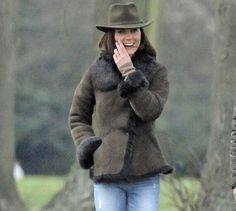 Kate Middleton in a Shearling