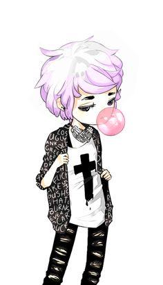 Tags mais populares para esta imagem incluem: pastel goth, boy e cute