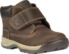 Timberland  Earthkeepers® Timber Tykes Hook-and-Loop Boot - Brown Full Grain Leather