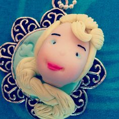 Fimo necklace dariarà elsa frozen