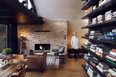 An Architect\'s Attic Apartment with Custom Furniture For architect ...