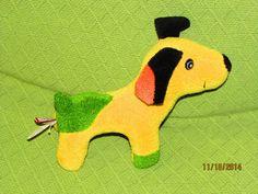 Douglas Cuddle Me Spotted Dog 18 Months+ Baby Toy Yellow Green Orange Black #Douglas