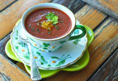 Gazpacho - new recipe from AZ today and made it today, SO good and ...
