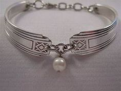 A Pretty Spoon Bracelet With Pearl Bead Handmade Spoon and ...