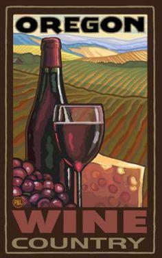 paul a lanquist prints/postcards - Oregon Wine Country