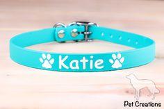 Halsband gemaakt van 16mm Biothane, met de naam van uw hond er op bedrukt!
