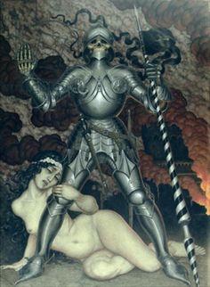 Nikolai Kalmakov - Death and the Maiden, 1910.  Death grim reaper Father Time scythe maiden girl woman dance danse macabre skull skeleton