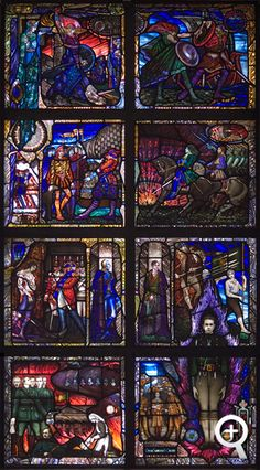 Stained glass window commemorating Kevin Barry relocated to UCD Belfield University College Dublin, Harry Clarke, Stained Glass Windows, Wood Projects, City Photo, Ireland, History, Twitter, Design