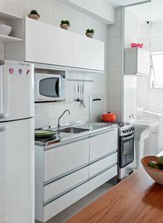57 m² muito bem aproveitados no apê de estilo clean - Casa                                                                                                                                                      Mais