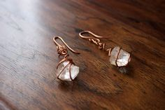 Pair of Quartz Crystal Earrings by TerraArcana on Etsy Wire Wrap, Crystal Earrings, Quartz Crystal, Pairs, Crystals, Trending Outfits, Unique Jewelry, Handmade Gifts, Etsy