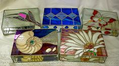 Stained Glass Jewelry Boxes Custom-designed, Made-to-order, For Wedding…