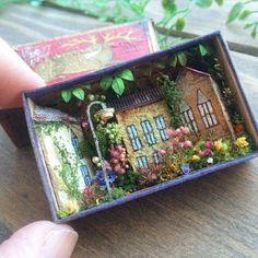 Miniature matchbox scene